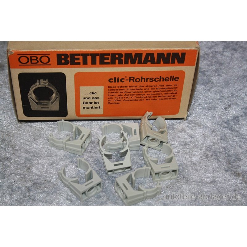obo bettermann clic rohrschellen ca 90 st ck grau typ 1977 16. Black Bedroom Furniture Sets. Home Design Ideas
